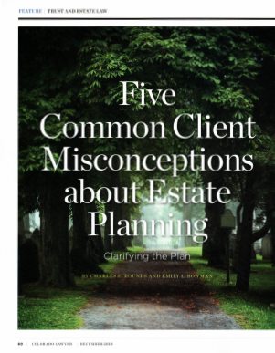 "An image of the article, ""Five Common Client Misconceptions about Estate Planning."" If clicked on, it will open the article."